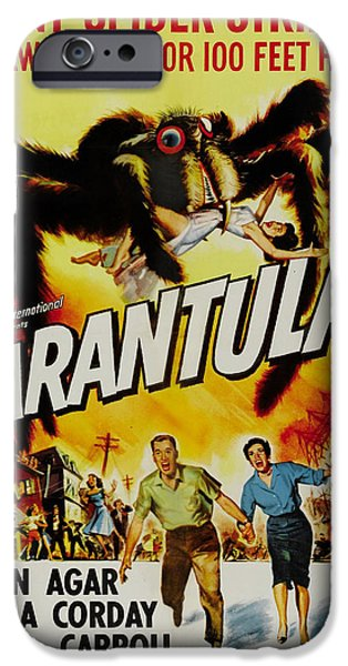 1950s Movies iPhone Cases - Tarantula iPhone Case by Nomad Art And  Design