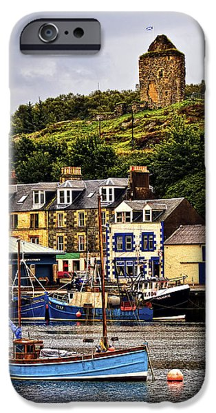 East Village iPhone Cases - Tarbert Castle iPhone Case by Marcia Colelli