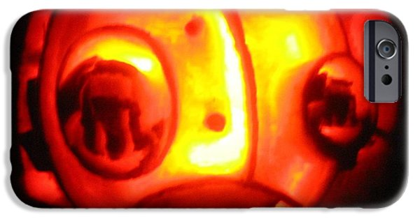 Vivid Sculptures iPhone Cases - Tarboy Pumpkin iPhone Case by Shawn Dall