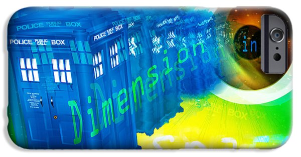 Police iPhone Cases - TARDIS Time and Relative Dimension in Space iPhone Case by Neil Finnemore
