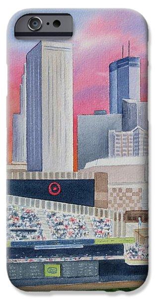 Target Field iPhone Case by Deborah Ronglien