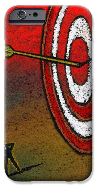 Attitude iPhone Cases - Target iPhone Case by Leon Zernitsky