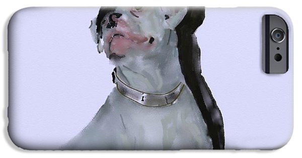 Boxer Digital Art iPhone Cases - Target iPhone Case by Sheila Lubeski