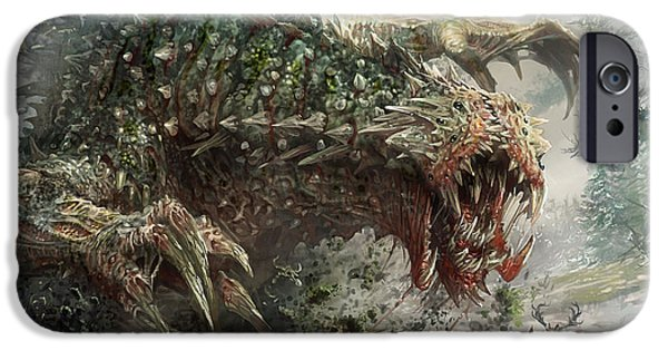 Fantasy Digital Art iPhone Cases - Tarmogoyf Reprint iPhone Case by Ryan Barger