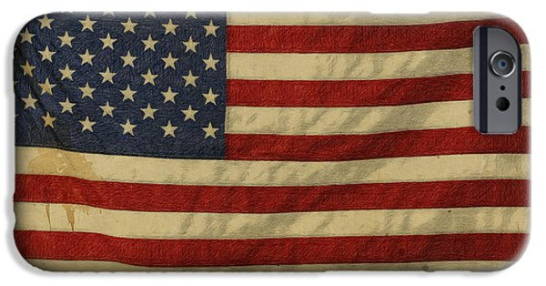 Old Glory Drawings iPhone Cases - Tarnished iPhone Case by Gary D Baker