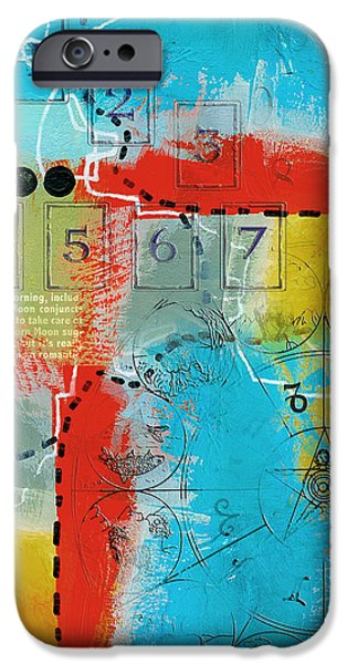 Esoteric iPhone Cases - Tarot Art Abstract iPhone Case by Corporate Art Task Force