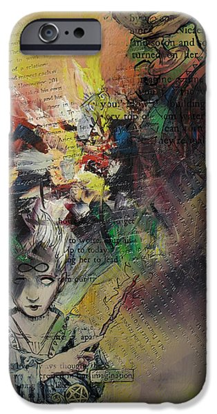 Esoteric iPhone Cases - Tarot Card Abstract 005 iPhone Case by Corporate Art Task Force
