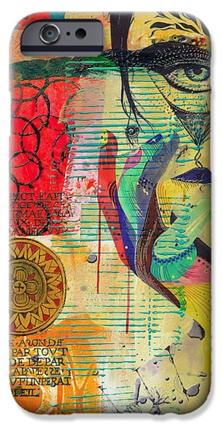 Swiss Paintings iPhone Cases - Tarot Card Abstract 007 iPhone Case by Corporate Art Task Force