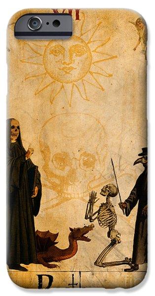 Tarots iPhone Cases - Tarot Card Death iPhone Case by Cinema Photography