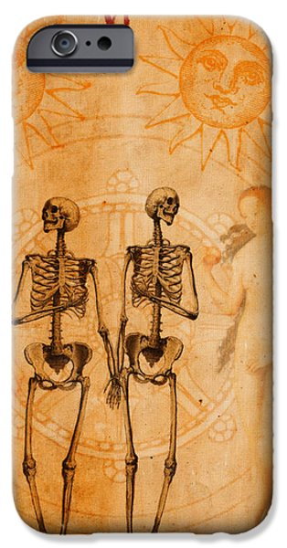 Lover Digital iPhone Cases - Tarot Card The Lovers iPhone Case by Cinema Photography