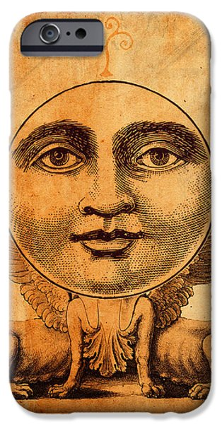 Tarots iPhone Cases - Tarot Card The Moon iPhone Case by Cinema Photography