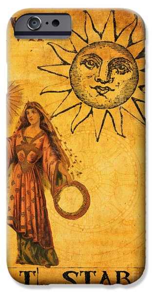 Religious iPhone Cases - Tarot Card The Star iPhone Case by Cinema Photography