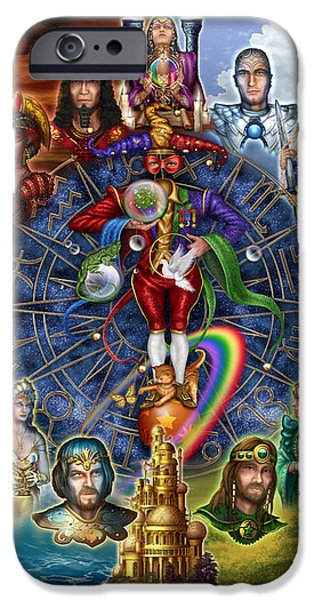 Tarot of Dreams iPhone Case by Ciro Marchetti