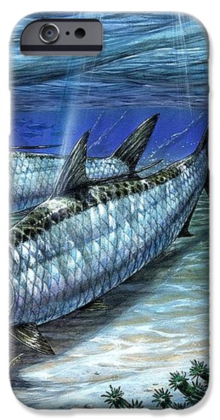 Tarpon In Paradise - Sabalo iPhone Case by Terry Fox