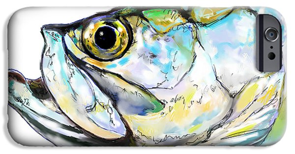 Flyfishing iPhone Cases - Tarpon Portrait iPhone Case by Mike Savlen