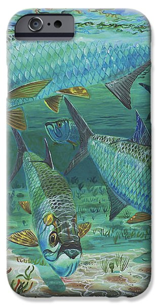Tarpon rolling In0025 iPhone Case by Carey Chen