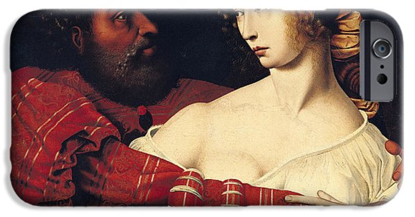 Rape iPhone Cases - Tarquin And Lucretia Oil On Panel iPhone Case by Jan Massys or Metsys
