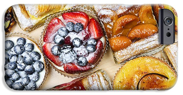 Serve iPhone Cases - Tarts and pastries iPhone Case by Elena Elisseeva