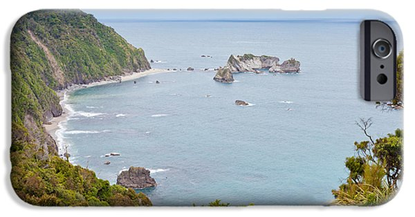 Turbulent Skies iPhone Cases - Tasman Sea at West Coast of South Island of New Zealand iPhone Case by Stephan Pietzko