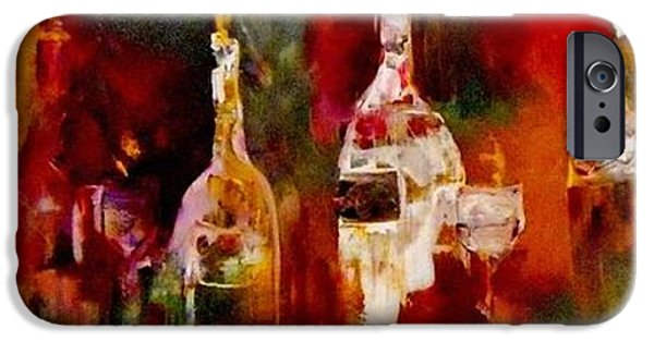 Table Wine iPhone Cases - Taste of Wine iPhone Case by Lisa Kaiser