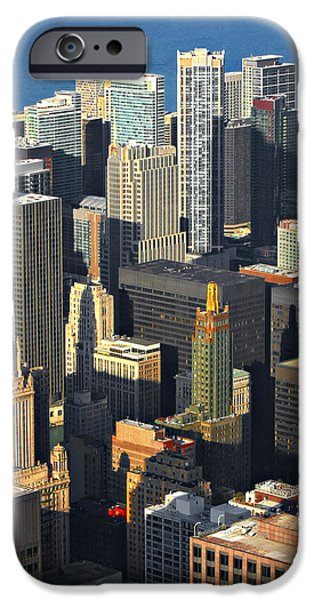 Interior Scene iPhone Cases - Taste of Chicago from above iPhone Case by Christine Till