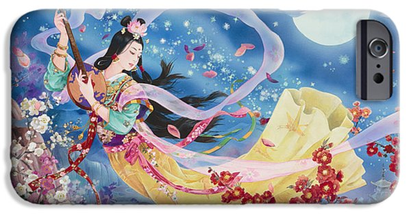 Silk Paintings iPhone Cases - Tategoto iPhone Case by Haruyo Morita
