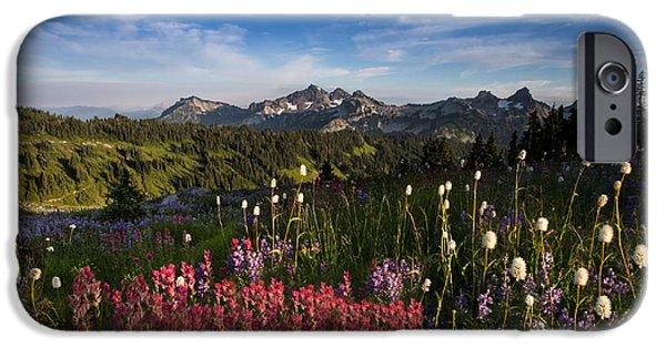 Wonderful iPhone Cases - Tatoosh Mountain Range iPhone Case by Larry Marshall