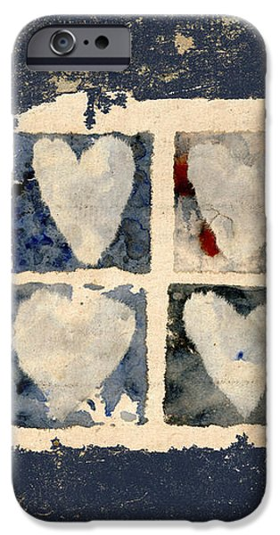 Tattered Hearts iPhone Case by Carol Leigh
