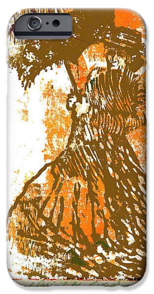Relief Print iPhone Cases - Tattered Parasol iPhone Case by Seth Weaver