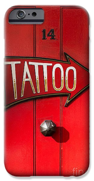 Tattoo iPhone Cases - Tattoo Door iPhone Case by Tim Gainey