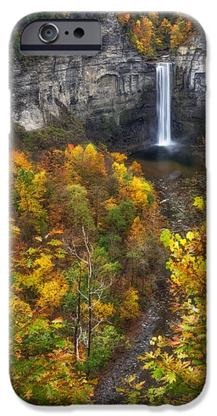 Taughannock Falls iPhone Cases - Taughannock Fall 2 iPhone Case by Mark Papke
