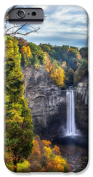 Taughannock Falls State Park iPhone Cases - Taughannock Fall 3 iPhone Case by Mark Papke