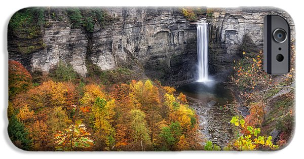 Taughannock Falls State Park iPhone Cases - Taughannock Fall iPhone Case by Mark Papke