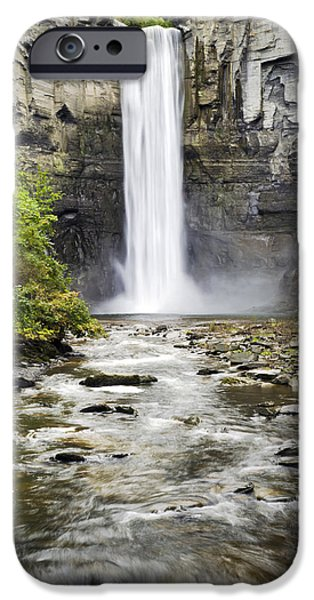 Taughannock Falls iPhone Cases - Taughannock Falls And Creek iPhone Case by Christina Rollo