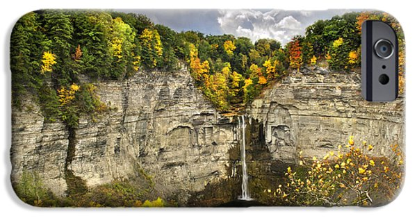 Taughannock Falls iPhone Cases - Taughannock Falls Autumn iPhone Case by Christina Rollo