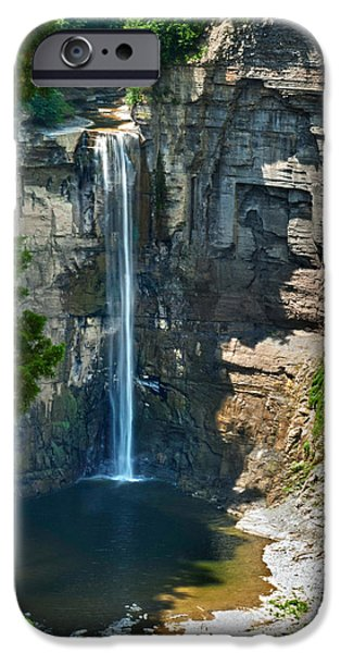 Ithaca iPhone Cases - Taughannock Falls iPhone Case by Christina Rollo