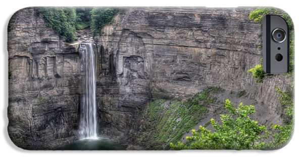 Taughannock Falls iPhone Cases - Taughannock Falls in Summer iPhone Case by Lori Deiter