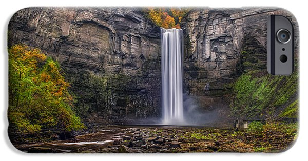 Taughannock Falls iPhone Cases - Taughannock Falls iPhone Case by Mark Papke
