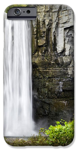 Nature Scene iPhone Cases - Taughannock Falls View From The Bottom iPhone Case by Christina Rollo