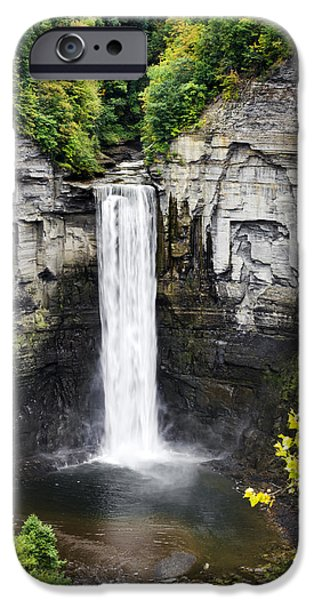 Taughannock Falls iPhone Cases - Taughannock Falls View from the Top iPhone Case by Christina Rollo