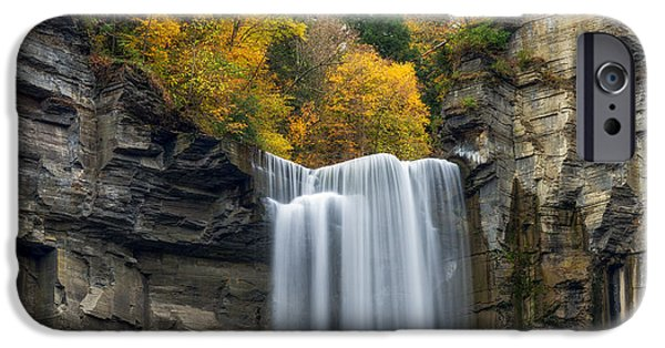 Taughannock Falls iPhone Cases - Taughannock Top iPhone Case by Mark Papke