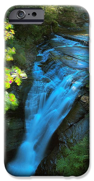 Fall iPhone Cases - Taughannock Upper Falls Ithaca New York iPhone Case by Paul Ge