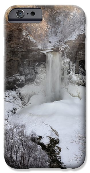 Taughannock Falls iPhone Cases - Taughannock winter iPhone Case by Mark Papke
