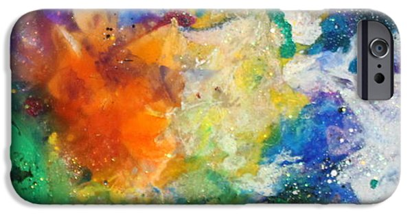 Flashy Paintings iPhone Cases - Taurus11 iPhone Case by Kathleen Fowler