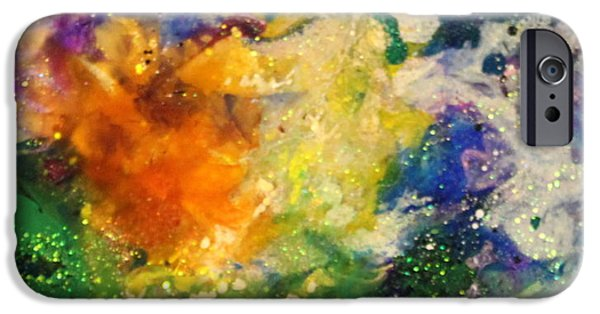 Flashy Paintings iPhone Cases - Taurus12 iPhone Case by Kathleen Fowler
