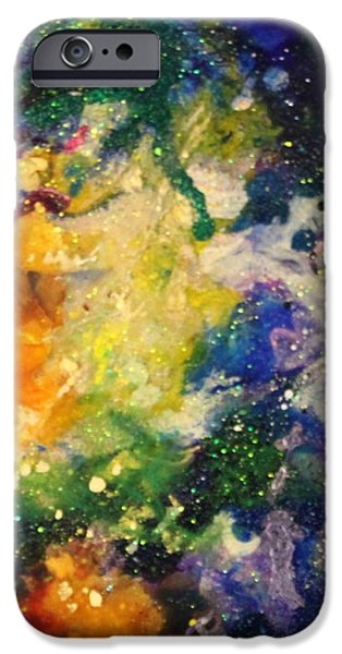 Splashy Paintings iPhone Cases - Taurus14 iPhone Case by Kathleen Fowler