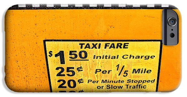 Taxi iPhone Cases - Taxi Fare iPhone Case by John Farnan