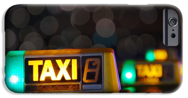 Taxi iPhone Cases - Taxi signs iPhone Case by Carlos Caetano