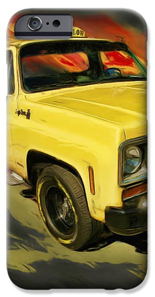 Taxicab Repair 1974 gmc iPhone Case by Blake Richards