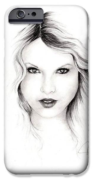 Taylor Swift iPhone Cases - Taylor Swift 3 iPhone Case by Rosalinda Markle